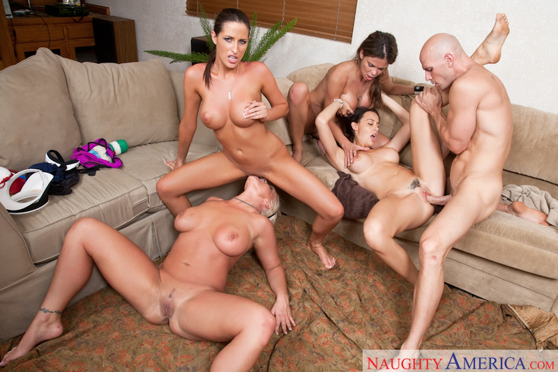 Chanel Preston, Hunter Bryce, Kortney Kane, Sadie Swede networks video from Naughty America