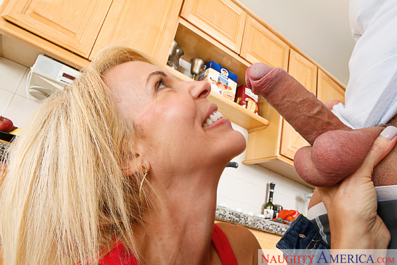 Horny milf Erica Lauren loves young cock