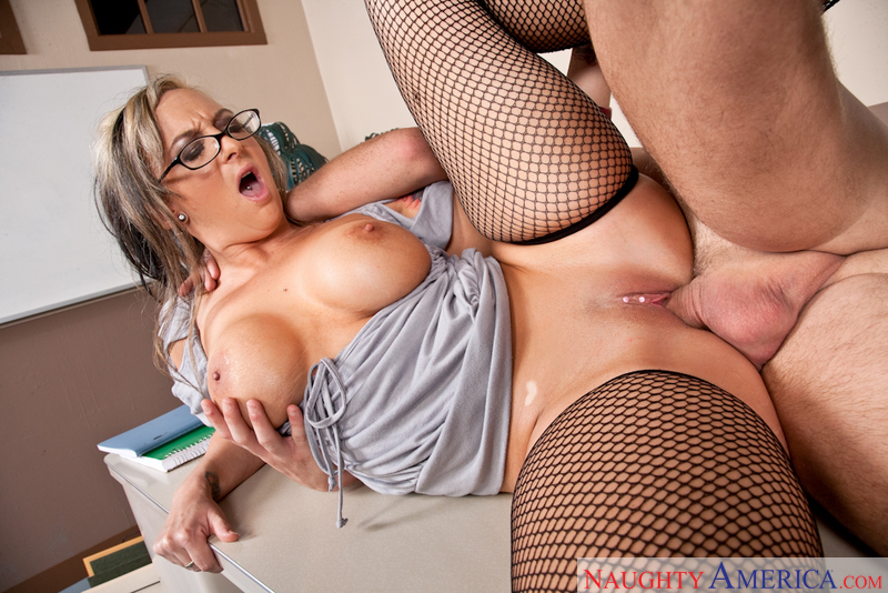 Shay Morgan is a sexy nasty teacher that will teach Dane Cross a lesson by making him fuck her