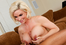 Diamond is a sexy cougar who just wanted to get Rocco's attention, watch as she sucks his cock and makes him cum all over her huge tits.